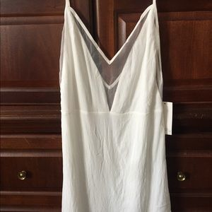 NWT TOBI Cream Colored Lined Dress Size XS